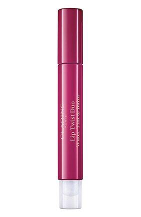 Женский двусторонний фломастер-бальзам для губ lip twist duo, 02 CLARINS бесцветного цвета, арт. 80061544 | Фото 1