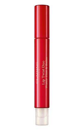 Женский двусторонний фломастер-бальзам для губ lip twist duo, 03 CLARINS бесцветного цвета, арт. 80061545 | Фото 1