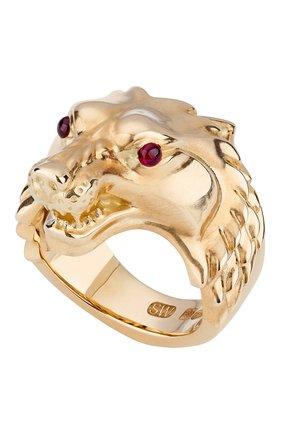 Мужское кольцо STEPHEN WEBSTER бесцветного цвета, арт. 3019979 | Фото 1 (Материал сплава: Желтое золото; Драгоценные камни: Рубины)