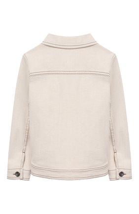 Детская джинсовая куртка BRUNELLO CUCINELLI бежевого цвета, арт. BH1190460A | Фото 2