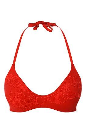 Женский треугольный бра LA PERLA красного цвета, арт. 004592D | Фото 1 (Материал внешний: Синтетический материал; Женское Кросс-КТ: Раздельные купальники)