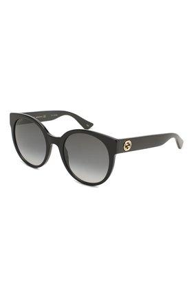 Женские солнцезащитные очки GUCCI черного цвета, арт. GG0035 001 | Фото 1