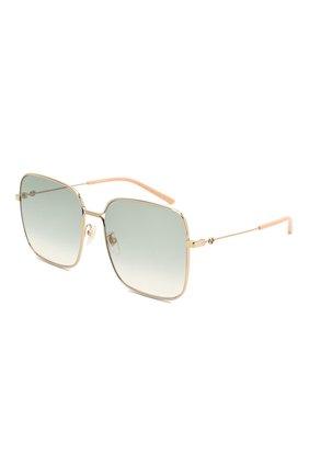 Мужские солнцезащитные очки GUCCI золотого цвета, арт. GG0443 004 | Фото 1