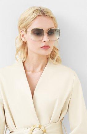 Мужские солнцезащитные очки GUCCI золотого цвета, арт. GG0443 004 | Фото 2