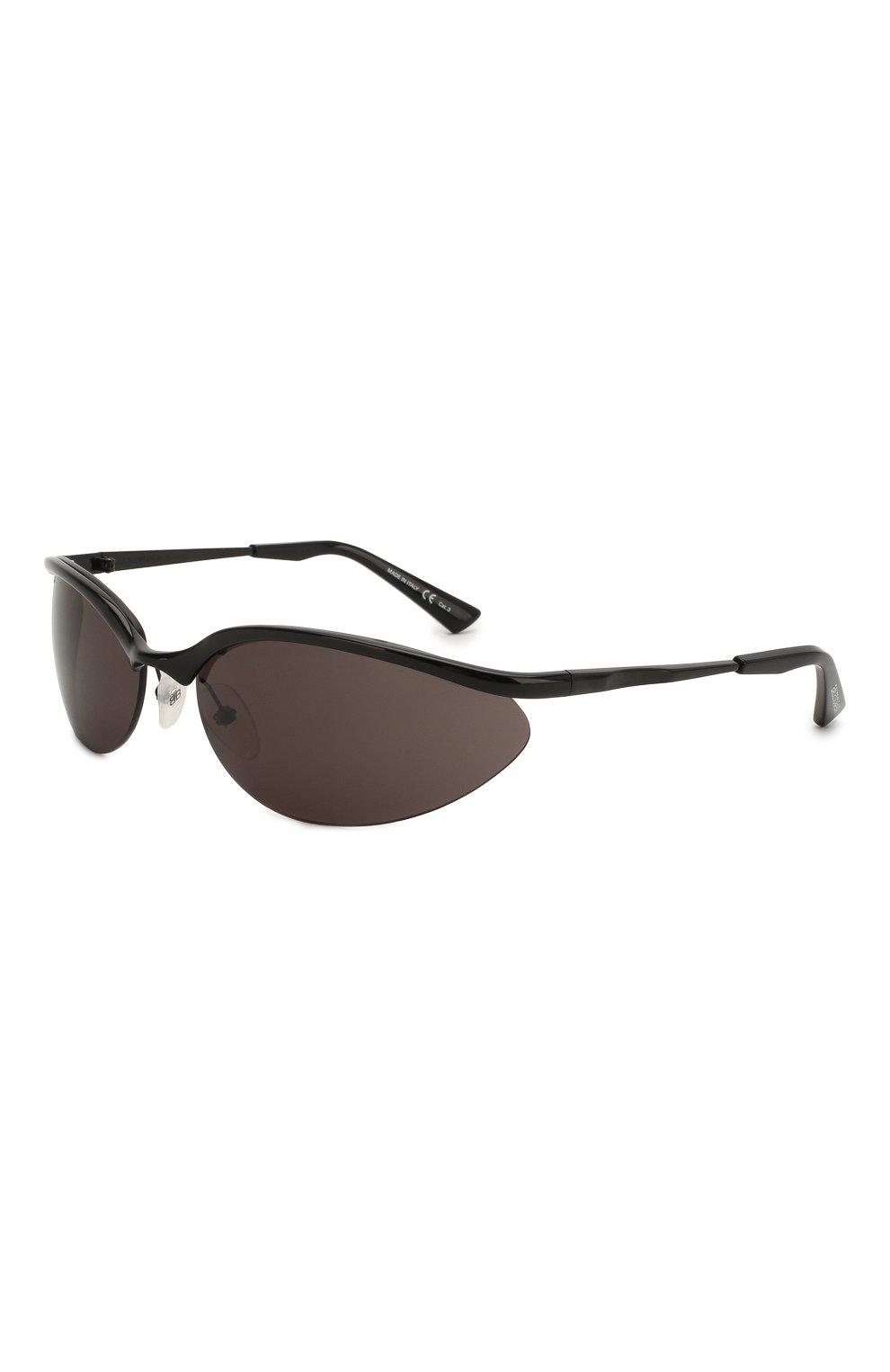 Женские солнцезащитные очки BALENCIAGA черного цвета, арт. BB0044 001 | Фото 1