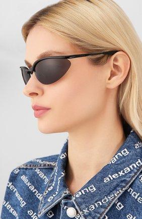 Женские солнцезащитные очки BALENCIAGA черного цвета, арт. BB0044 001 | Фото 2