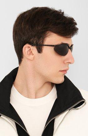 Женские солнцезащитные очки BALENCIAGA черного цвета, арт. BB0044 001 | Фото 3