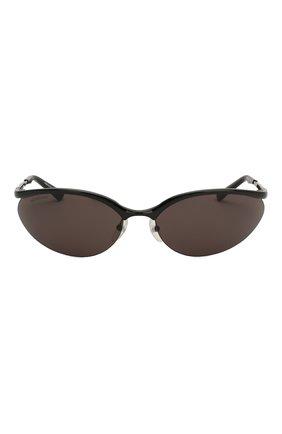 Женские солнцезащитные очки BALENCIAGA черного цвета, арт. BB0044 001 | Фото 4