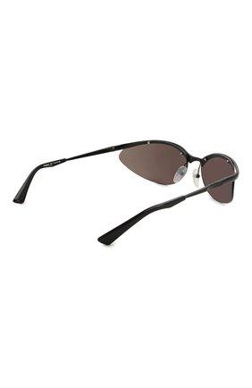 Женские солнцезащитные очки BALENCIAGA черного цвета, арт. BB0044 001 | Фото 5
