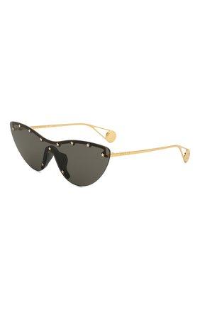 Мужские солнцезащитные очки GUCCI черного цвета, арт. GG0666S 001 | Фото 1