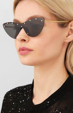 Мужские солнцезащитные очки GUCCI черного цвета, арт. GG0666S 001 | Фото 2