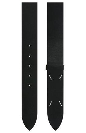 Женский кожаный ремень MAISON MARGIELA черного цвета, арт. S56TP0182/PR404 | Фото 2