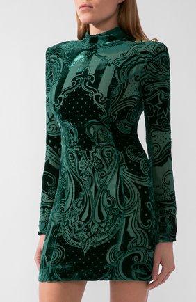 Женское платье из вискозы и шелка BALMAIN зеленого цвета, арт. UF16203/V121 | Фото 2