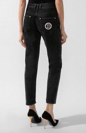 Женские джинсы BALMAIN темно-серого цвета, арт. UF15515/D047 | Фото 3