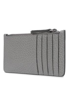 Женский кожаный футляр для кредитных карт MAISON MARGIELA серого цвета, арт. S56UI0143/P0399 | Фото 2
