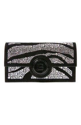 Женский клатч BALMAIN черного цвета, арт. UN1M101/AVZS | Фото 1