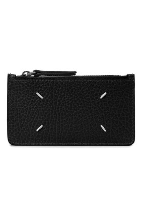 Женский кожаный футляр для кредитных карт MAISON MARGIELA черного цвета, арт. S56UI0143/P0399 | Фото 1