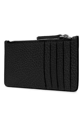Женский кожаный футляр для кредитных карт MAISON MARGIELA черного цвета, арт. S56UI0143/P0399 | Фото 2