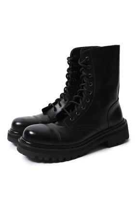Мужские кожаные ботинки VETEMENTS черного цвета, арт. MAH21BO231/ | Фото 1