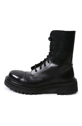 Мужские кожаные ботинки VETEMENTS черного цвета, арт. MAH21BO231/ | Фото 2