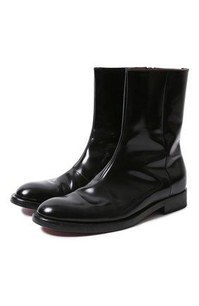 Мужские кожаные сапоги VETEMENTS черного цвета, арт. MAH21BO235/ | Фото 1