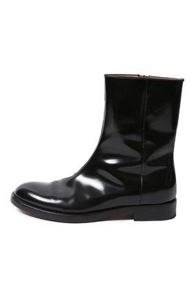 Мужские кожаные сапоги VETEMENTS черного цвета, арт. MAH21BO235/ | Фото 2