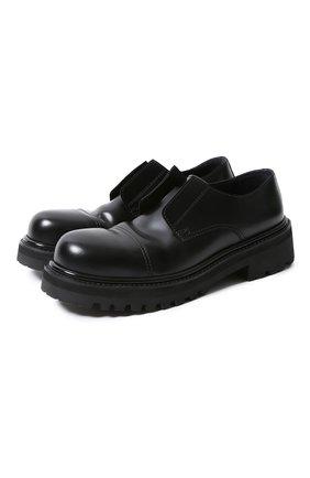 Мужские кожаные ботинки VETEMENTS черного цвета, арт. MAH21FL230/ | Фото 1