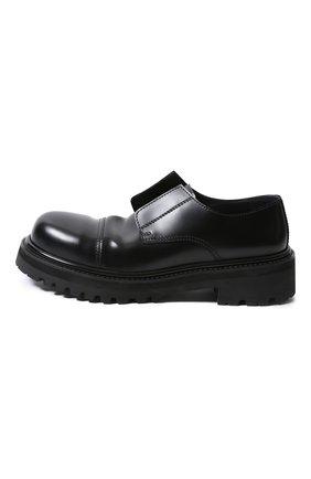Мужские кожаные ботинки VETEMENTS черного цвета, арт. MAH21FL230/ | Фото 2