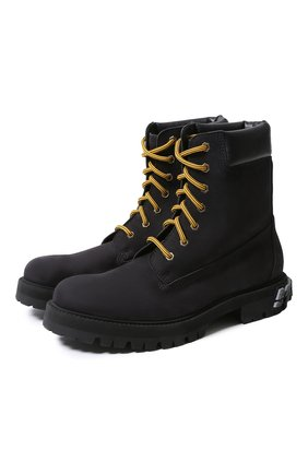 Мужские замшевые ботинки VETEMENTS черного цвета, арт. UAH21BO240/ | Фото 1