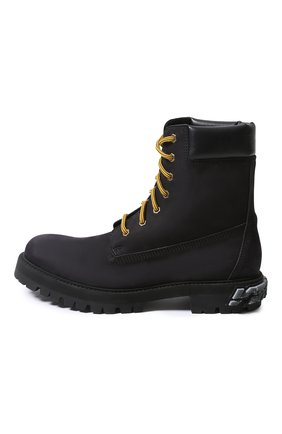 Мужские замшевые ботинки VETEMENTS черного цвета, арт. UAH21BO240/ | Фото 2