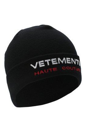 Женская шерстяная шапка VETEMENTS черного цвета, арт. UAH21HA271 1053/M   Фото 1
