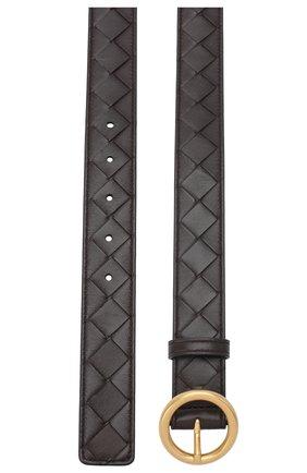 Женский кожаный ремень BOTTEGA VENETA темно-коричневого цвета, арт. 608559/VCPP5   Фото 2