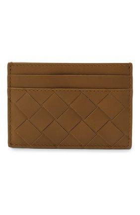 Женский кожаный футляр для кредитных карт BOTTEGA VENETA хаки цвета, арт. 635064/VCPQ3 | Фото 1