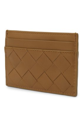 Женский кожаный футляр для кредитных карт BOTTEGA VENETA хаки цвета, арт. 635064/VCPQ3 | Фото 2
