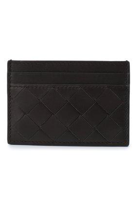 Женский кожаный футляр для кредитных карт BOTTEGA VENETA темно-коричневого цвета, арт. 635064/VCPQ3   Фото 1