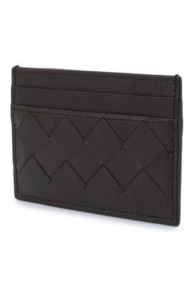 Женский кожаный футляр для кредитных карт BOTTEGA VENETA темно-коричневого цвета, арт. 635064/VCPQ3   Фото 2