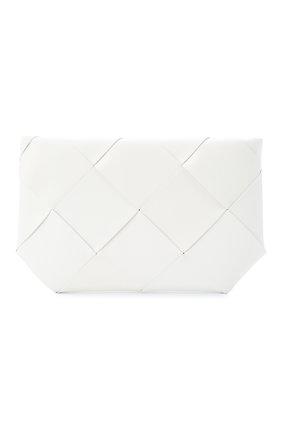Женская кожаная косметичка BOTTEGA VENETA белого цвета, арт. 577771/VMAY4 | Фото 1