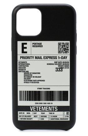 Мужской чехол для iphone 11 pro VETEMENTS черного цвета, арт. UAH21AC283 1373/M/IPH0NE 11 PR0 | Фото 1