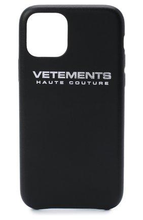 Мужской чехол для iphone 11 pro VETEMENTS черного цвета, арт. UAH21AC280 2471/M/IPH0NE 11 PR0 | Фото 1