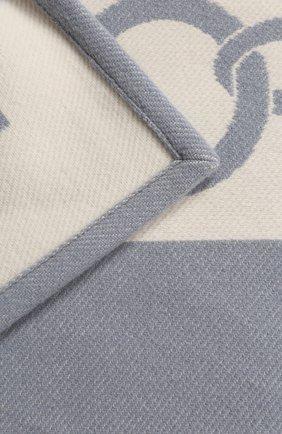 Мужского шерстяной плед FRETTE темно-синего цвета, арт. FR6607 F0400 130I   Фото 2