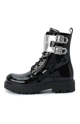 Детские кожаные ботинки BALMAIN черного цвета, арт. 6N0536/NX430 | Фото 2