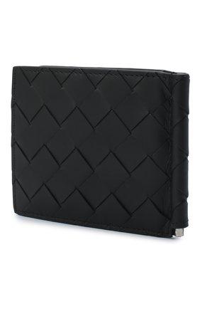 Мужской кожаный зажим для денег BOTTEGA VENETA черного цвета, арт. 592626/VCPQ4 | Фото 2