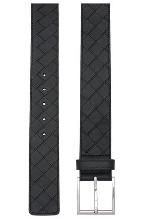 Мужской кожаный ремень BOTTEGA VENETA черного цвета, арт. 629844/VCPQ3 | Фото 2