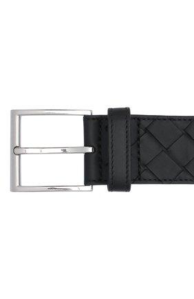 Мужской кожаный ремень BOTTEGA VENETA черного цвета, арт. 629844/VCPQ3 | Фото 3