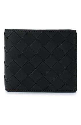 Мужской кожаное портмоне BOTTEGA VENETA черного цвета, арт. 605722/VCPQ4 | Фото 1
