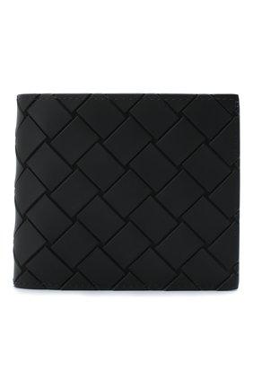 Мужской портмоне BOTTEGA VENETA черного цвета, арт. 605722/VBWL1 | Фото 1