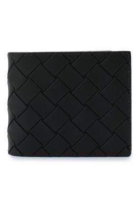 Мужской портмоне BOTTEGA VENETA черного цвета, арт. 605721/VBWL1 | Фото 1