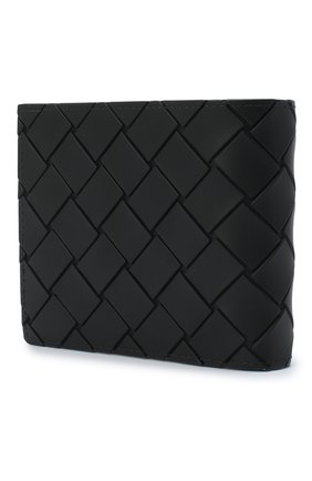 Мужской портмоне BOTTEGA VENETA черного цвета, арт. 605721/VBWL1 | Фото 2