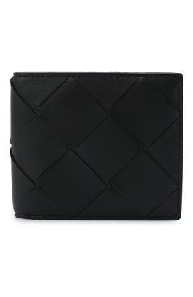 Мужской кожаное портмоне BOTTEGA VENETA черного цвета, арт. 113993/VCQT1 | Фото 1