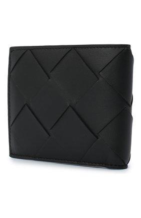 Мужской кожаное портмоне BOTTEGA VENETA черного цвета, арт. 113993/VCQT1 | Фото 2